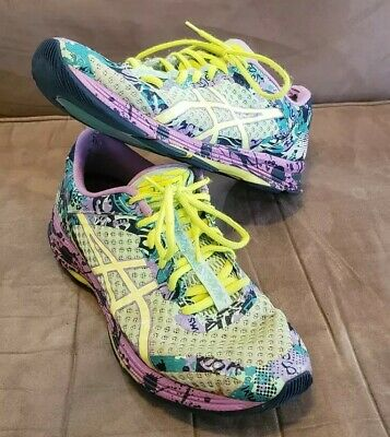 92f2b0742c6e Asics Gel-Noosa Tri 11 Womens T676N Patina Green Yellow Violet Running Shoes  8.5