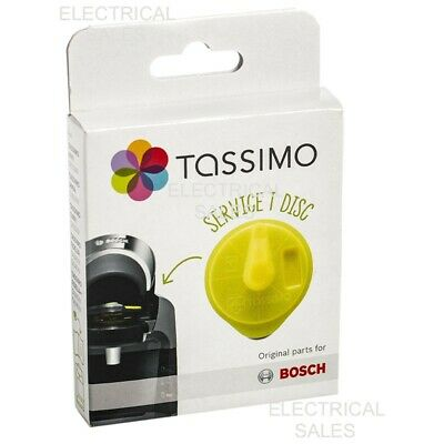 Bosch Tassimo Yellow Service T Disc Descaling Cleaning Descaler 00576836 Genuine