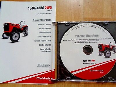 MAHINDRA 4540 4550 2WD Tier 4 tractor factory service