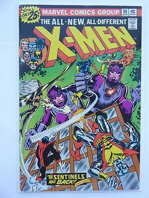 "X-MEN #98_APRIL 1976_VF 8.0_""THE SENTINELS ARE BACK""_BRONZE AGE MARVEL_Cents!"