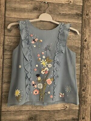 Girls Next Stunning Blouse BNWT £32 Age 10 Years Embroidered