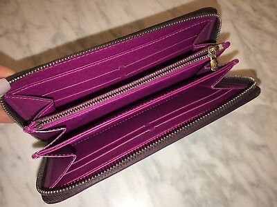 Authentic Louis Vuitton Zippy Wallet Epi Leather RARE Purple Pink