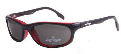 Anarchy Sunglasses Tapped Black Burgundy Smoke Lens