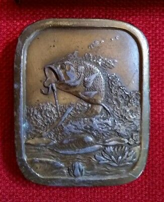 Vintage BASS Brass Belt Buckle Indiana Metal Craft 1976 - Design marked A97