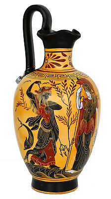 Goddess Athena and Poseidon - Dionysus God of Wine Oinochoe Amphora Vase pottery