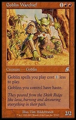 4X Goblin Warchief - Scourge - * Spanish, LP * MTG FREE SHIP OVER $10