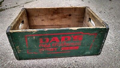 Vintage Dads Root Beer Crate Rare Scarce Military