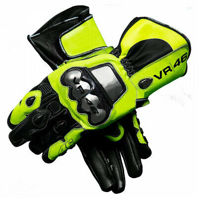 Valentino Rossi 2018 Motogp VR46 Leather Motorbike Leather Gloves