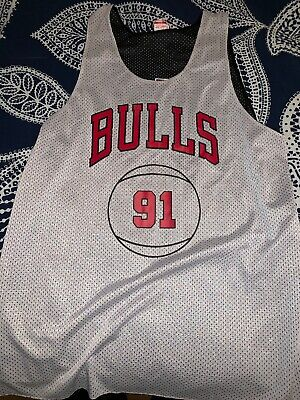 low priced 76567 65fde Dennis Rodman Chicago Bulls Reverable Jersey Mitchell And Ness