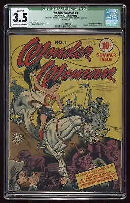 Wonder Woman (1st Series DC) #1 1942 CGC 3.5 QUALIFIED 1241274004