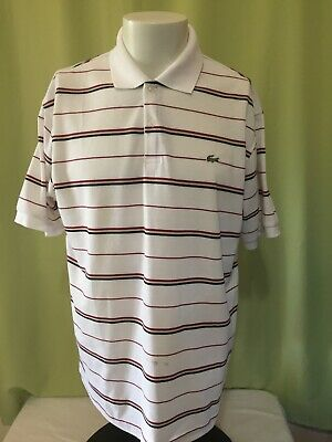 11d4f527 LACOSTE LIVE STRIPED Front Pocket Polo Shirt - Navy Blue - Small 3 ...