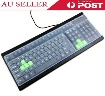 New Universal Reusable Silicone Desktop Computer Keyboard Cover Skin Protector