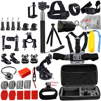 For Go Pro Hero Accessories Camera Mount Suction Cup Stick Chest Strap Kit L2I3
