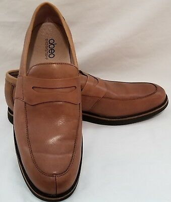 861454e341c Abeo BIO System Men s Nathan Penny Loafer Brown Leather Shoes Mens Sz 10.5 N