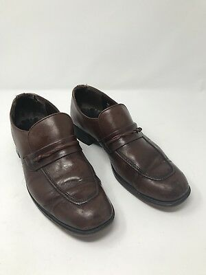 c93a95a9eff Made In Ireland Stacy Adams  Brown Leather Mens 9.5 Loafer Slip-On Dress  Shoes