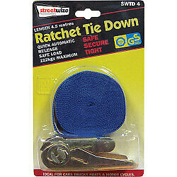 Ratchet Tie Down 4.5 Meter Boat Luggage Straps Ties Stow Stowage Storage NEW