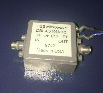 DBS MICROWAVE LOW NOISE AMPLIFIER 8.5 to 10.5 GHz 20 dB GAIN