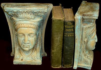 Egyptian Queen Isis Sculpture Bookends Goddess 14023