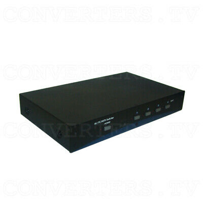 PC/HD Switcher 4 input : 1 output w/RS232   (FREE SHIPPING)  CPCD-41AR