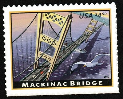 US 4438 Priority Mail Mackinac Bridge $4.90 single (1 stamp) MNH 2010
