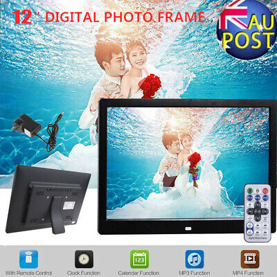 """12"""" 1280*800 LED HD Electronic Digital Photo Frame Picture Clock MP4 MP3 Player"""