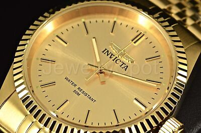 Invicta Speciality Camelot 43MM ALL GOLD Champain Dial SS Bracelet Watch