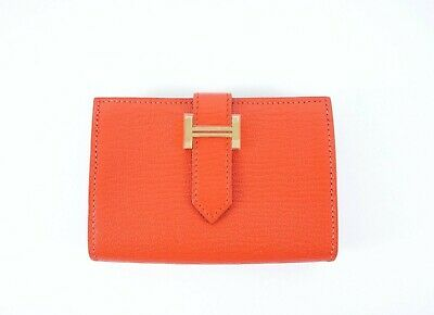 22db33a7b133 HERMES COMPACT BEARN Wallet Gold Epsom Gold HDW -  799.00