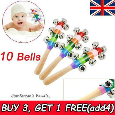Baby Musical Instruments Toy Rattle Hand Bell Toys for Children Game Gifts SW