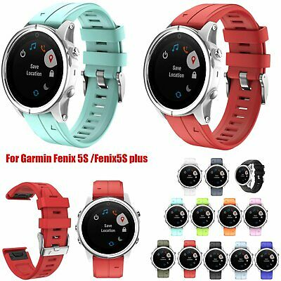 Doux Silicone Bracelet 20MM Bande Sangle Pour Garmin Fenix 5S /Fenix5S plus VS