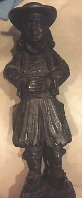 "VTG/Antique Breton French Carved Wood Treen 10"" figure statue Brittany 1900-40's"