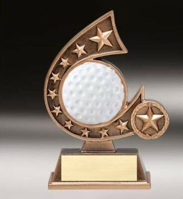Golf Comet Resin Award Trophy - Engraved Free - Speedy Shipping