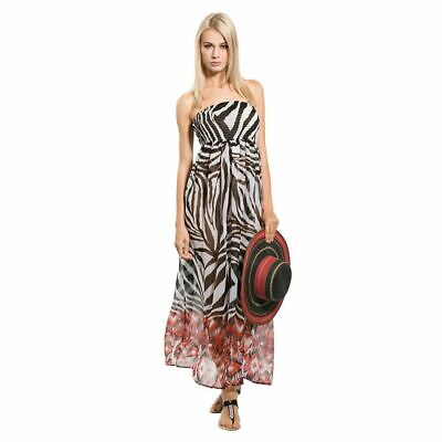 Pia Rossini Bandeau Strapless Maxi Dress Beachwear Cover Up Bnwt Free Postage