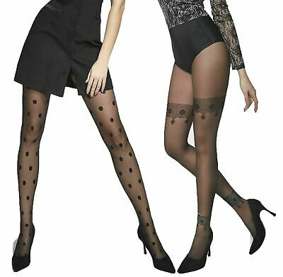 2a9239f828a Patterned Tights Adrian Woman Pantyhose Ladies New 20 denier Dots or  Ornament