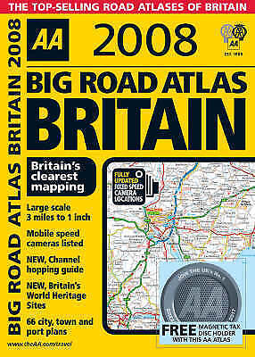 Big Road Atlas Britain (AA Atlases) by , Spiral-bound Used Book, Good, FREE & Fa