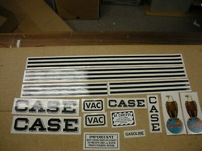 CASE Model VAC Tractor Decal Set -  NEW FREE SHIPPING