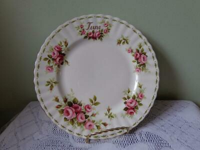 Royal Albert Bone China Flower Of The Month Series June Roses Luncheon Plate