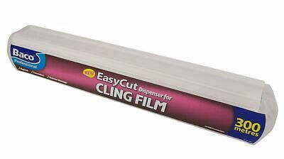 Baco Professional Easy Cut Dispenser and Cling Film 300 Metres & 45cm Wide