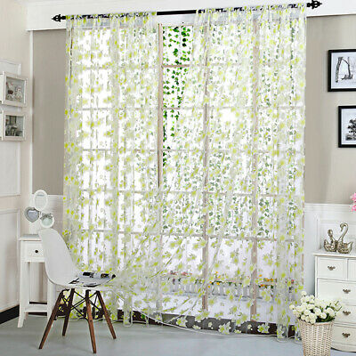 Fresh Style Flower Wedding String Fringe Panel Fly Screen Window Door Curtain 8C