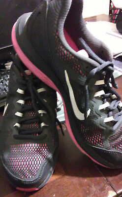 6794afddc74 WOMENS NIKE DUAL FUSION RUN 3 Anthracite Running Trainers 653594 003 ...