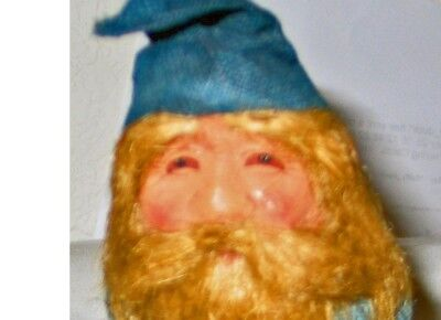 """5"""" ANTIQUE Elf Gnome Very Detailed Face Stands Alone"""