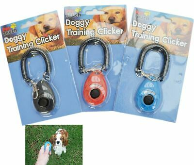 Pet Dog Puppy Training Trainer Aid Clicker Click With Wrist Strap Guide