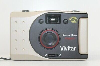 VIVITAR PN2011 35MM Film Panoramic Focus Free Vintage Point and Shoot  untested