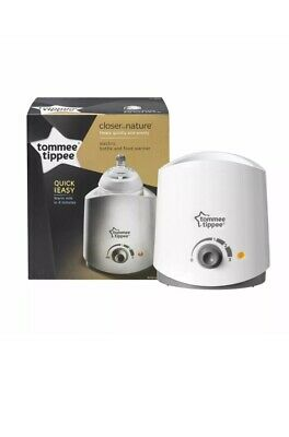 NEW Tommee Tippee Closer to Nature Electric Baby Food and Bottle Warmer Quick