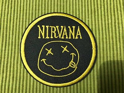 """Nirvana Logo 3"""" Diameter Embroidered Patch"""