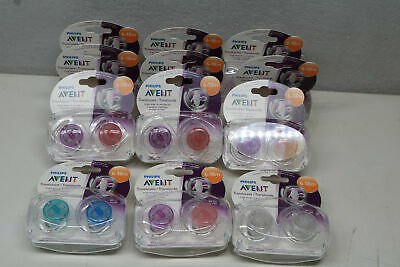 24 Pack Philips Avent Translucent Orthadontic 6-18 months Pacifiers Binky Girl