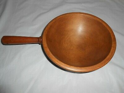 "Vintage ""woodcroftery"" Hanging 8.5"" Wood Bowl With 5"" Handle 2.75"" Deep"