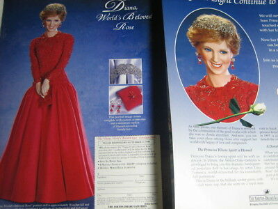 Ashton Drake Princess Diana Doll Ad RED GOWN ~Advertisment ONLY