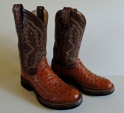 ef678c5b8af ARIAT MEN'S FULL-QUILL Ostrich Exotic Western Boot - Wide Square Toe ...