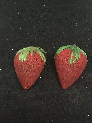 Lot Of 2 Antique Victorian Sewing Pincushion Strawberry