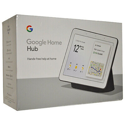 Google Home Hub with Google Assistant Chalk or Charcoal GA00515-US (Sealed Box)